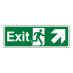 Exit Arrow Up Right Sign