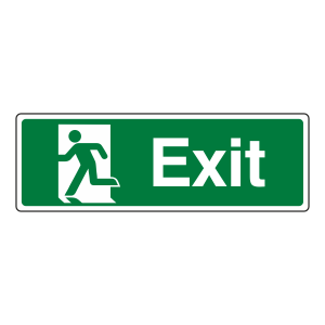 Final Exit Man Left Sign