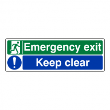 Emergency Exit / Keep Clear Sign
