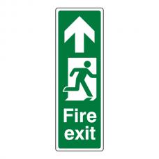 Fire Exit Arrow Up Sign (Portrait)