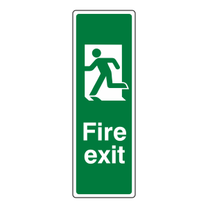 Final Fire Exit Man Left Sign (Portrait)