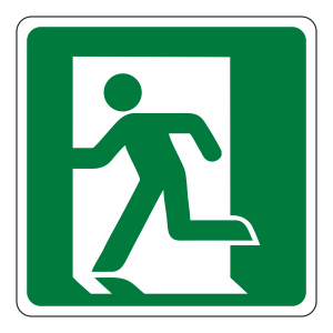 Fire Exit Man Left Sign (logo)