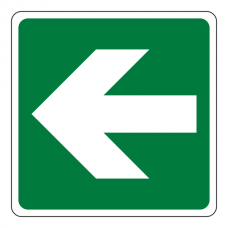 Fire Exit Straight Arrow Sign (Logo)