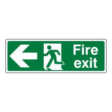 Fire Exit Arrow Left Sign