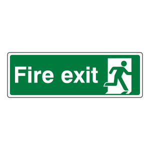 Final Fire Exit Man Right Sign
