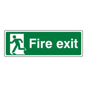 Final Fire Exit Man Left Sign