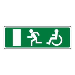 Wheelchair Final Fire Exit Man Left Sign (no text)