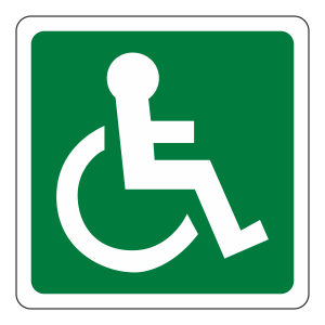 Wheelchair Man Right Sign (logo)