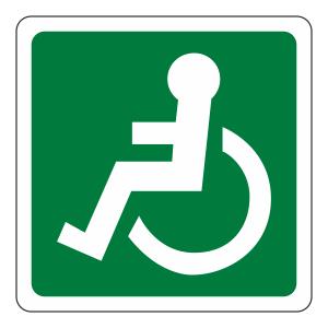 Wheelchair Man Left Sign (logo)