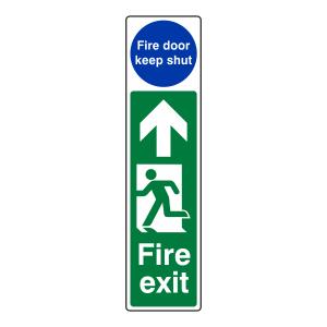 Fire Exit Door Plate Man Right / Door Remain Unlocked Sign