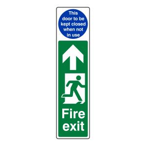 Fire Exit Door Plate Man Right / Door to be Kept Closed Sign