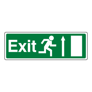 EC Exit Arrow Up Sign