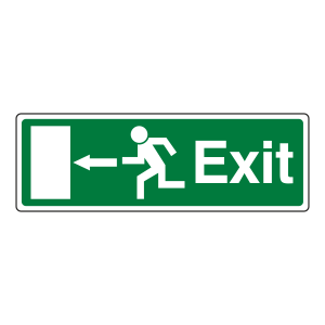 EC Exit Arrow Left Sign