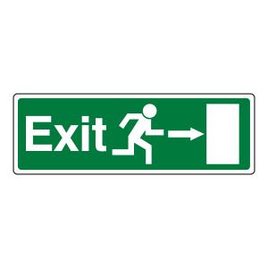 EC Exit Arrow Right Sign
