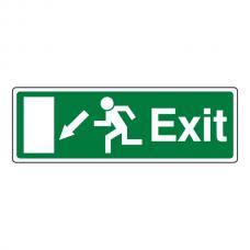 EC Exit Arrow Down Left Sign
