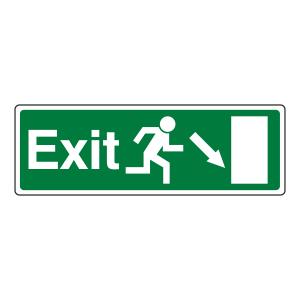 EC Exit Arrow Down Right Sign