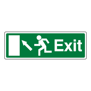 EC Exit Arrow Up Left Sign