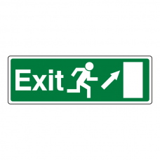 EC Exit Arrow Up Right Sign