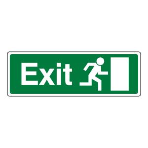 EC Final Exit Man Right Sign