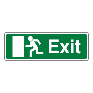 EC Final Exit Man Left Sign