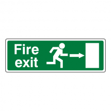 EC Fire Exit Arrow Right Sign (with Text)