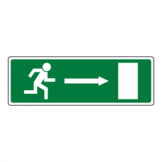EC Fire Exit Arrow Right Sign
