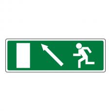 EC Fire Exit Arrow Up Left Sign