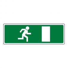 EC Final Fire Exit Man Left Sign