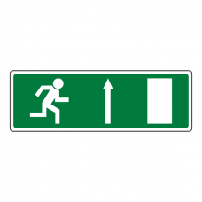 Fire Exit Arrow Up Luminere Sign
