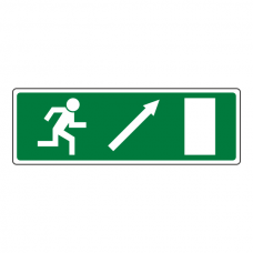 Fire Exit Arrow Up Right Luminere Sign