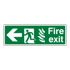 NHS Fire Exit Arrow Left Sign