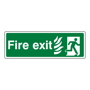 NHS Final Fire Exit Man Right Sign