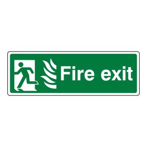 NHS Final Fire Exit Man Left Sign