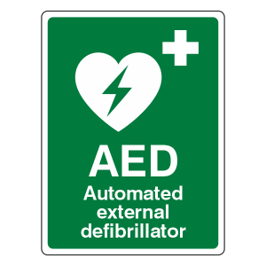 Automated External Defibrillator Sign (Portrait)