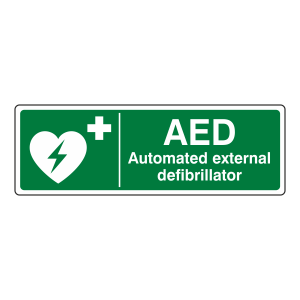 Automated External Defibrillator Sign (Landscape)
