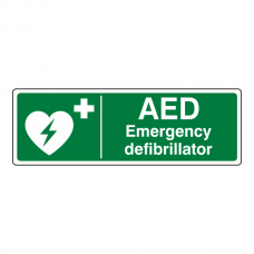 Emergency Defibrillator Sign (Landscape)