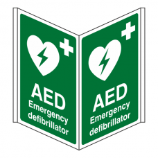 AED Emergency Defibrillator Projecting Sign