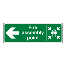Fire Assembly Point Arrow Left Sign