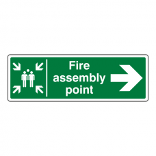 Fire Assembly Point Arrow Right Sign