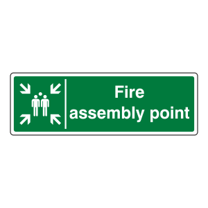 Fire Assembly Point Sign (Landscape)
