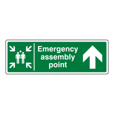 Emergency Assembly Point Arrow Up Sign
