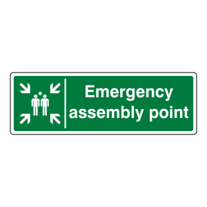 Emergency Assembly Point Sign (Landscape)