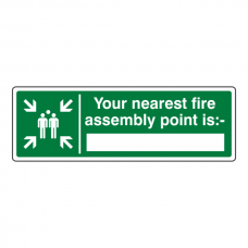Your Nearest Fire Assembly Point Is With Blank Sign (Landscape)