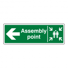 Assembly Point Arrow Left Sign
