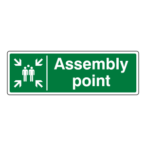 Assembly Point Sign (Landscape)