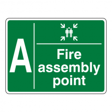 Fire Assembly Point With Family and Letter Sign
