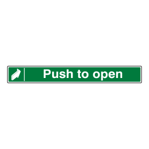 Push To Open Sign (Long Landscape)