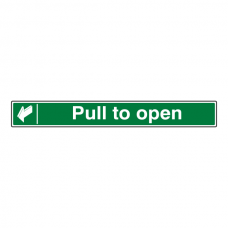 Pull To Open Sign (Long Landscape)