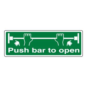 Push Bar To Open Sign (Landscape)