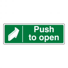 Push To Open Sign (Landscape)